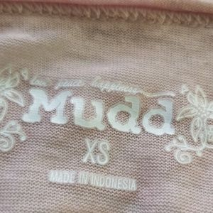 Mudd Tops - MUDD V-Neck Blush Sheer Shirt